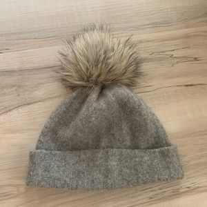 Community Puff Ball Stocking Cap Gray One Size